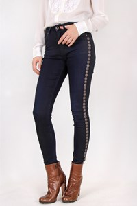 Scotch&Soda Dark Blue Denim with Metallic Elements / Size: 26 - Fit: XS